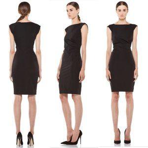 DIANE VON FURSTENBERG Gabi Poplin Dress in Black
